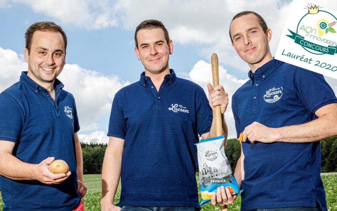 Concours 2020 Les Chips de Lucien des Ateliers de la Pomme de terre (Mettet) –  Lauréat 2020
